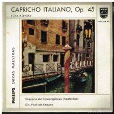 Discos de vinilo: TSCHAIKOWSKY - CAPRICHO ITALIANO, OP 45 - ORQUESTA DEL CONCERTGEBOUW - EP 1959. Lote 222225541