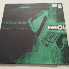 Discos de vinilo: SUNFLOWERZ - PUMPIN' THE BASS. Lote 222227017