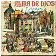 Discos de vinilo: ALMA DE DIOS - EP 1959. Lote 222230002