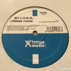 Discos de vinilo: DJ L.U.K.A. - I FOUND PEACE. Lote 222230111