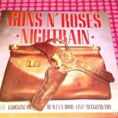Discos de vinilo: GUNS N ROSES NIGHTRAIN 1989 EUROPE MAXI-SINGLE. Lote 222230911
