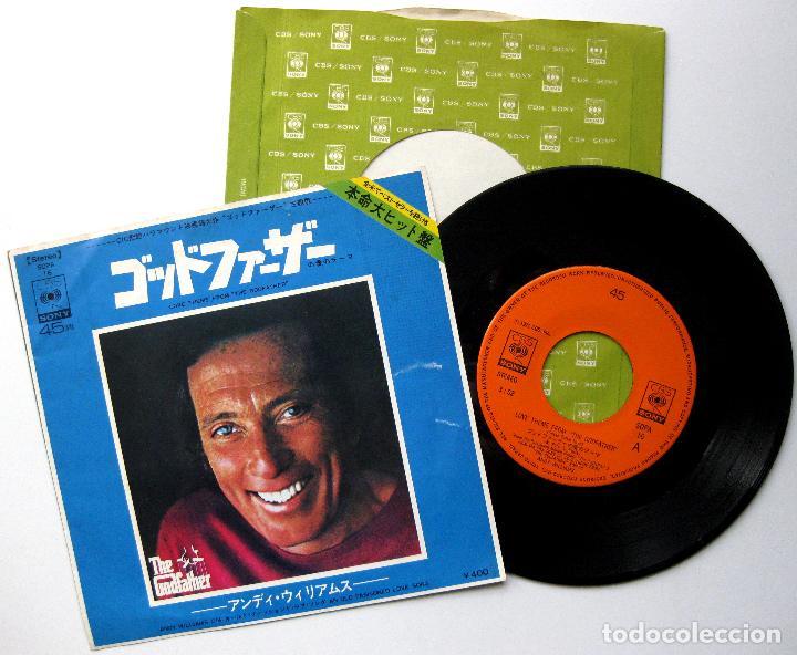 ANDY WILLIAMS - LOVE THEME FROM THE GODFATHER (EL PADRINO) - SINGLE CBS/SONY 1972 JAPAN BPY (Música - Discos - Singles Vinilo - Bandas Sonoras y Actores)