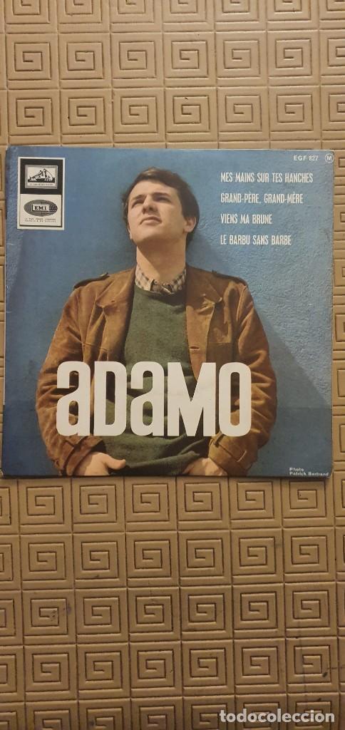 ADAMO – MES MAINS SUR TES HANCHES SELLO: LA VOIX DE SON MAÎTRE – EGF 827, LA VOIX DE SON MAÎTRE – (Música - Discos - Singles Vinilo - Canción Francesa e Italiana)