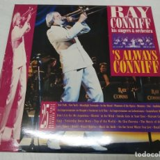 Discos de vinilo: RAY CONNIFF HIS SINGERS & ORCHESTRA- 'S ALWAYS CONNIFF--DOBLE LP. Lote 222235011