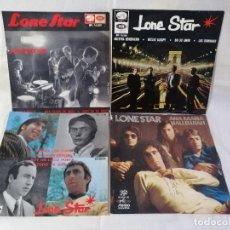 Discos de vinilo: LONE STAR LOTE 3 EPS + 1 SINGLE EXCELENTE ESTADO VER FOTOS Y MAS INFORMACION ANEXA. Lote 222241021