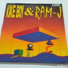 Discos de vinilo: KIKE BOY & RAM-J - SONAR SYNC / RAGGA BEAT. Lote 222241085