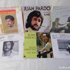 Discos de vinilo: JUAN PARDO LOTE 6 SINGLES VER DETALLES EN FOTOS E INFORMACION ANEXA. Lote 222241386