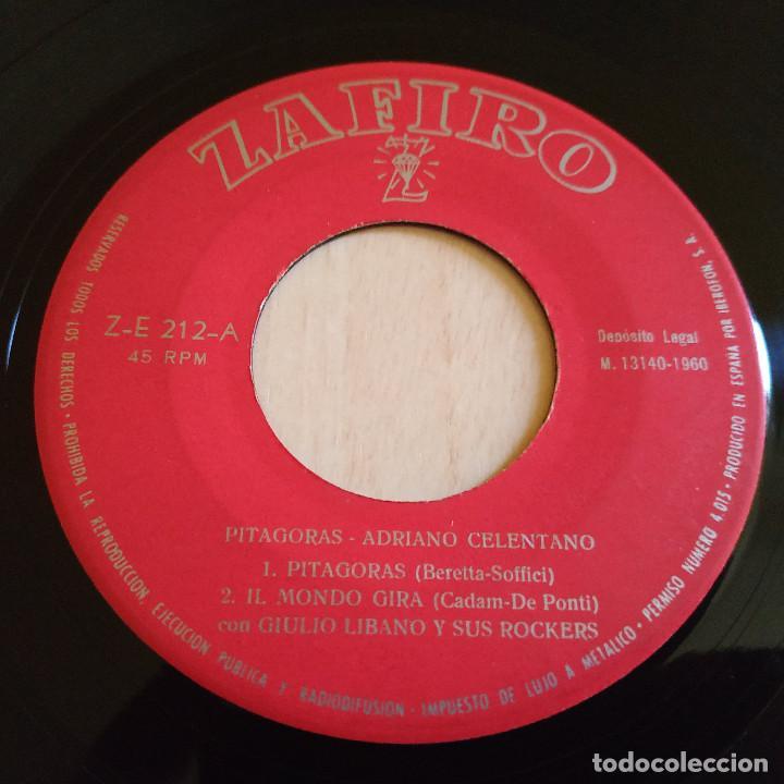 Discos de vinilo: ADRIANO CELENTANO - PITAGORAS / IMPAZZIVO PER TE / ROCK MATTO + 1 RARO EP ZAFIRO SPAIN AÑO 1960 VG+ - Foto 3 - 222247580