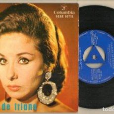 Discos de vinilo: DISCO VINILO. SINGLE. MARIFÉ DE TRIANA. LA LUNA Y EL TORO. COLUMBIA SCGE 80713. (P/C61). Lote 222247816