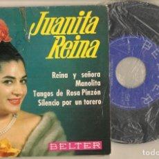 Discos de vinilo: DISCO VINILO. SINGLE. JUANITA REINA. REINA Y SEÑORA. BELTER: 51.178. (P/C61). Lote 222248417
