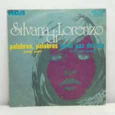 Discos de vinilo: SILVANA DI LORENZO, PALABRAS (RCA 1972) SINGLE. Lote 235957370