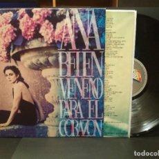 Discos de vinilo: ANA BELEN VENENO PARA EL CORAZON LP SPAIN 1993 PDELUXE. Lote 222250832