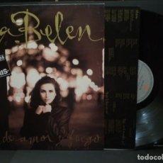 Discos de vinilo: ANA BELEN ROSA DE AMOR Y FUEGO LP SPAIN 1989 PDELUXE. Lote 222251023