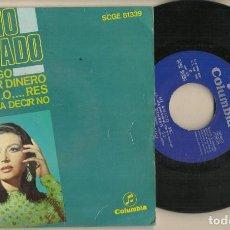 Discos de vinilo: DISCO VINILO. SINGLE. ROCIO JURADO. MI AMIGO. COLUMBIA SCGE 81339. (P/C61). Lote 222261273