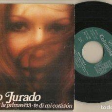 Discos de vinilo: DISCO VINILO. SINGLE. ROCIO JURADO. VA A LLEGAR LA PRIMAVERA. COLUMBIA MO 1381. (P/C61). Lote 222261398