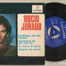 Discos de vinilo: DISCO VINILO. SINGLE. ROCIO JURADO. FANDANGOS DE ISLA CRISTINA. COLUMBIA SCGE 81.085. (P/C61). Lote 222261700