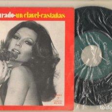 Discos de vinilo: DISCO VINILO. SINGLE. ROCIO JURADO. UN CLAVEL. COLUMBIA MO 1426. (P/C61). Lote 222262385