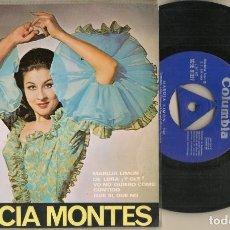Discos de vinilo: DISCO VINILO. SINGLE. GRACIA MONTES. MARUJA LIMÓN. COLUMBIA SCGE 81.327. (P/C61). Lote 222262870