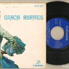 Discos de vinilo: DISCO VINILO. SINGLE. GRACIA MONTES. CON UNA RADIO QUE SUENA. COLUMBIA SCV 521. (P/C61). Lote 222263168