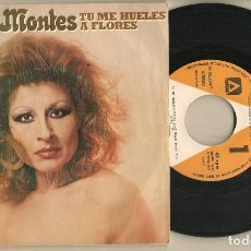 Discos de vinilo: DISCO VINILO. SINGLE. GRACIA MONTES. TU ME HUELES A FLORES. 02.5024/1.(P/C61). Lote 222263405