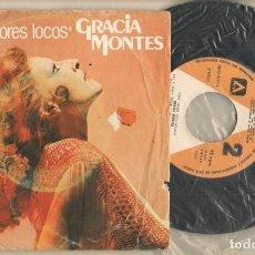 Discos de vinilo: DISCO VINILO. SINGLE. GRACIA MONTES. AMORES LOCOS. AMBAR 02.5017.4.(P/C61). Lote 222263586
