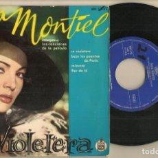 Discos de vinilo: DISCO VINILO. SINGLE. SARA MONTIEL. LA VIOLETERA. HISPAVOX HH 17-51. (P/C61). Lote 222263997