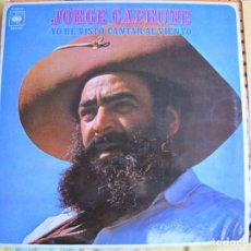 Disques de vinyle: LP - JORGE CAFRUNE - YO HE VISTO CANTAR AL VIENTO (SPAIN, CBS 1970). Lote 222269825