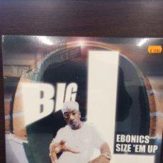 Discos de vinilo: BIG L. EBONICS-SIZE'EM UP. NUEVO.. Lote 222272241