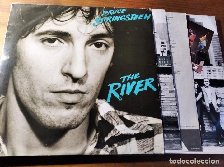 BRUCE SPRINGSTEEN - THE RIVER ****** RARO LP ESPAÑOL DOBLE ORIGINAL 1980 BUEN ESTADO (Música - Discos - Singles Vinilo - Cantautores Españoles)