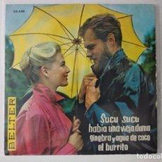 Discos de vinilo: NINA & FREDERIK - SUCU SUCO - HABIA UNA VIEJA DAMA.....- SINGLE. Lote 222276966