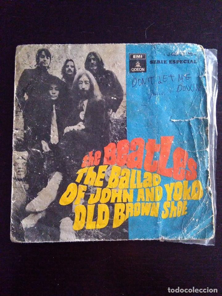 DISCO THE BEATLES - THE BALLAD OF JOHN AND YOKO OLD BROWN SHOE - 1969 (Música - Discos de Vinilo - Maxi Singles - Pop - Rock Extranjero de los 50 y 60)