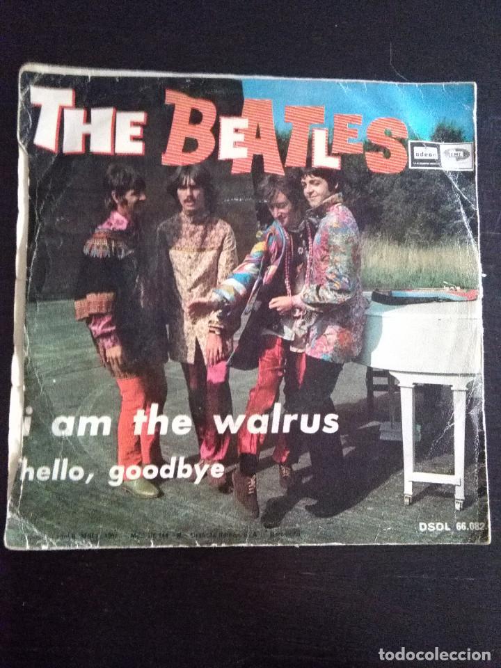 Discos de vinilo: THE BEATLES ---HELLO GOODBYE & I AM THE WALRUS --ORIGINAL 1ª EDICION 1967 - Foto 2 - 222281846