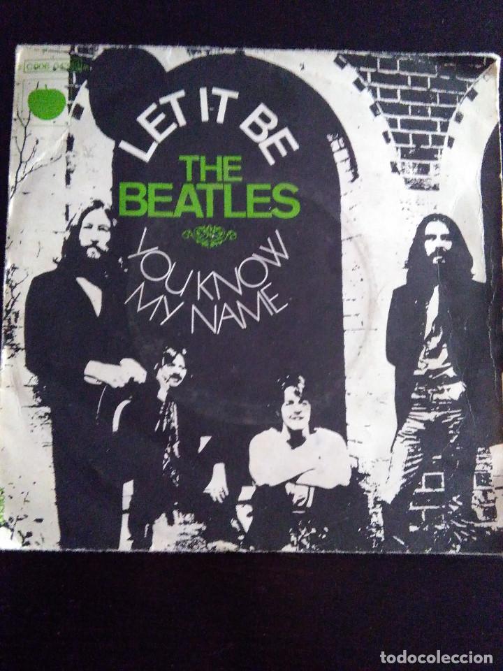 THE BEATLES. LET IT BE. YOU KNOW MY NAME. PATHE MARCONI, PARIS. EDICIÓN FRANCESA. (Música - Discos de Vinilo - Maxi Singles - Pop - Rock Extranjero de los 50 y 60)