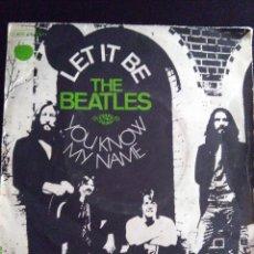 Discos de vinilo: THE BEATLES. LET IT BE. YOU KNOW MY NAME. PATHE MARCONI, PARIS. EDICIÓN FRANCESA.. Lote 222282432