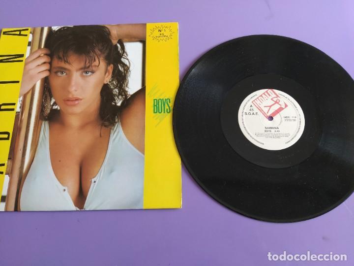 MAXI. SABRINA. BOYS. SPAIN AÑO 1987. SELLO BLANCO Y NEGRO . INDALO INDX 114. (Música - Discos de Vinilo - Maxi Singles - Disco y Dance)