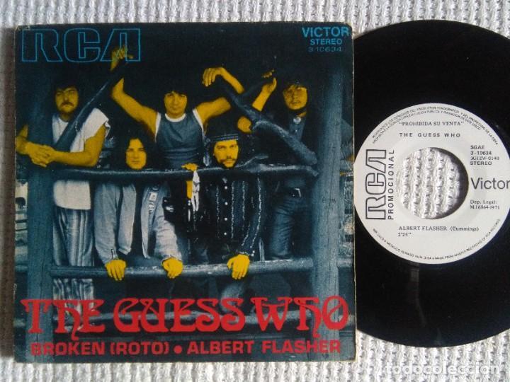 """THE GUESS WHO - """" BROKEN (ROTO) """" SINGLE 7"""" PROMO 1971 SPAIN (Música - Discos - Singles Vinilo - Pop - Rock - Internacional de los 70)"""