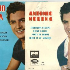 Discos de vinilo: ANTONIO MOLINA - 2 DISCOS, ESTUDIANTINA CATALANA + LA HIJA DE JUAN SIMON, DISCOS ODEON 1964. Lote 222288241