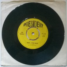 Discos de vinilo: THE EQUALS. BABY, COME BACK/ HOLD ME CLOSER. PRESIDENT, UK 1967 SINGLE. Lote 222290876