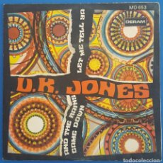 Discos de vinilo: SINGLE / U.K. JONES / LET ME TELL YA - AND THE RAINS CAME DOWN / DERAM MO 653 / 1969. Lote 222293398
