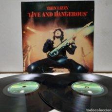 Discos de vinilo: THIN LIZZY - LIVE AND DANGEROUS 1978 ED ALEMANA GATEFOLD. Lote 222297363