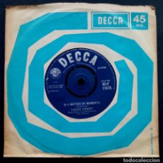 Discos de vinilo: LOUISE CORDET - IM JUST A BABY / IN A MATTER OF MOMENTS - SINGLE UK 1962 - DECCA. Lote 222300906