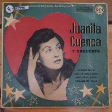 Discos de vinilo: 42998 - JUANITA CUENCA Y ORQUESTA - MARUZZELLA + 3 CANIONES - AÑO ?. Lote 222302115