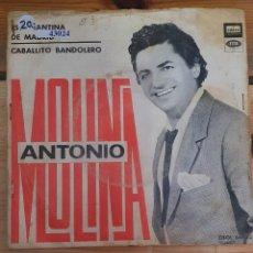 Discos de vinilo: 43024 - ANTONIO MOLINA - ESTUDIANTINA DE MADRID - CABALLITO BANDOLERO - AÑO ?. Lote 222305031