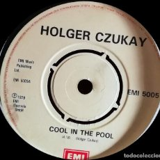 Discos de vinilo: HOLGER CZUKAY - COOL IN THE POOL SINGLE, REPRESS. Lote 222309148