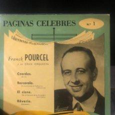 Discos de vinilo: FRANCK POURCEL - CZARDAS / BARCAROLA / EL CISNE / REVERIE. Lote 222312535