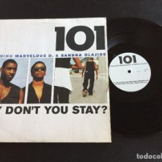 "Discos de vinilo: 101 WHY DON'T YOU STAY? EXTENDED 12"" GERMANY. Lote 222321721"