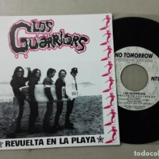 Discos de vinilo: LOS GUARRIORS, PIÉRDETE, ROCK AND ROLL JET SET, REVUELTA EN LA PLAYA, STAY WITH ME. Lote 222323617