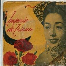 Discos de vinilo: IMPERIO DE TRIANA / ZAMBRA GITANA / DAMISELA ENCANTADORA + 2 (EP 1958). Lote 222330063