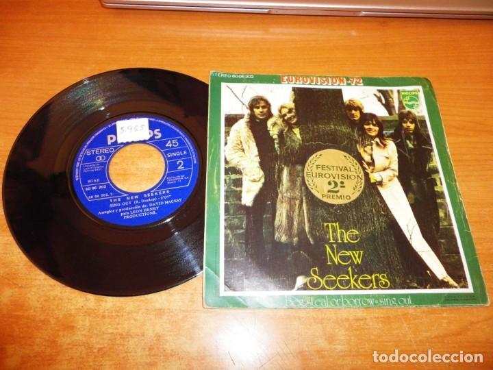 Discos de vinilo: THE NEW SEEKERS Beg steal or borrow EUROVISION 1972 UK SINGLE VINILO 1972 ESPAÑA CONTIENE 2 TEMAS - Foto 2 - 222335568