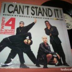 Discos de vinilo: TWENTY 4 SEVEN - I CAN´T STAND IT .. MAXISINGLE - BLANCO Y NEGRO - NUEVO MIX - BUEN ESTADO -1990. Lote 222335658